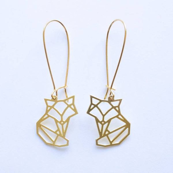 Fox Geometric Earrings