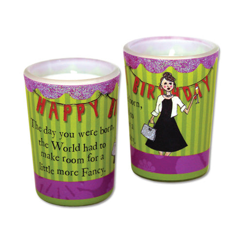 Curly Girl Mini Votive