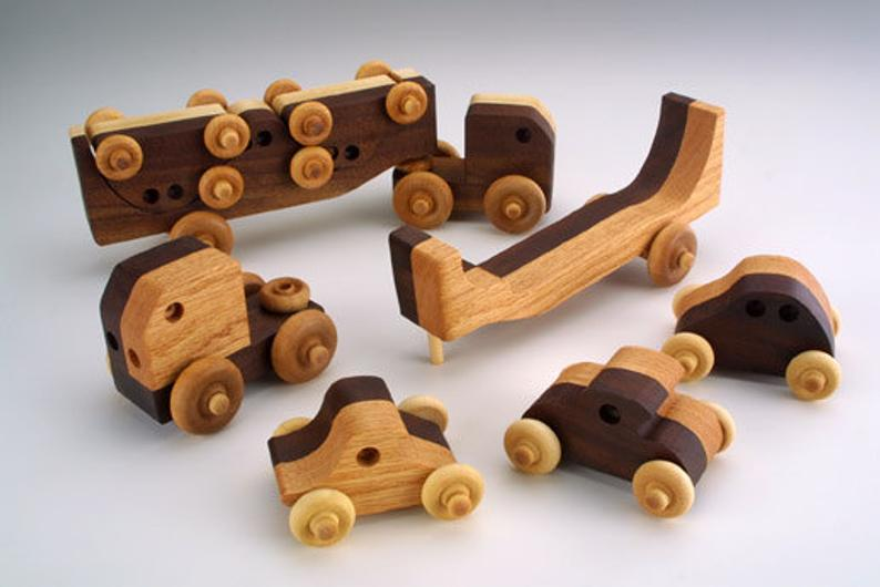 Baldwin Wooden Car Transporter