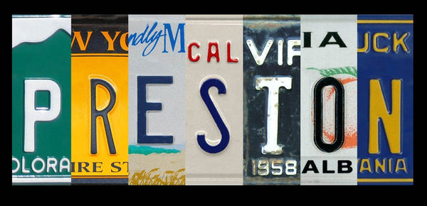 License Plate Magnetic Letters