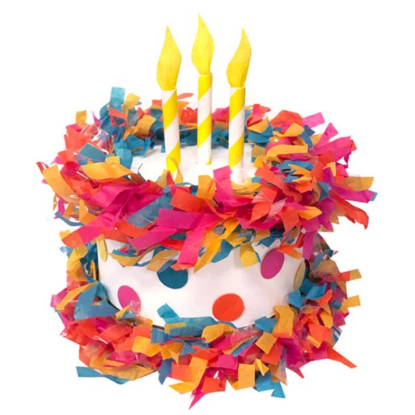 Mini Tabletop Piñata Birthday Cake