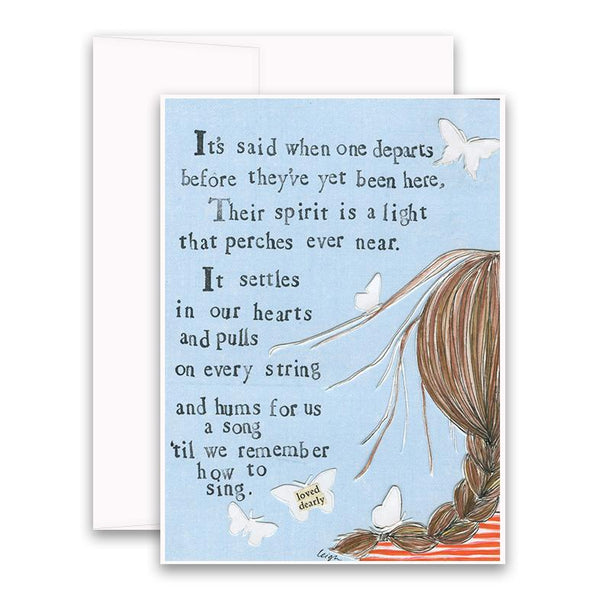 Curly Girl Sympathy Cards