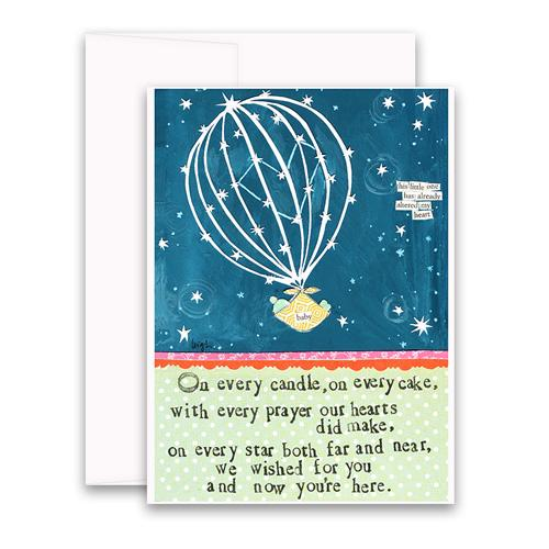 Curly Girl New Baby Cards