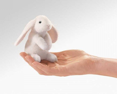 Lop Ear Rabbit Finger Puppet - Through the Moongate and Over the Moon Toys