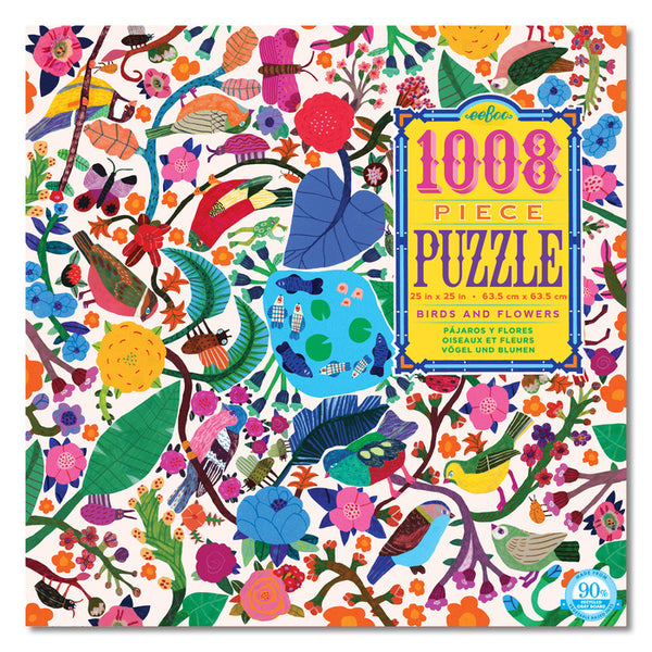 Birds & Flowers 1008 piece puzzle