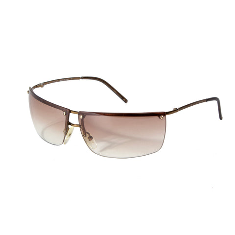 Rimless Taupe Tinted Sunglasses