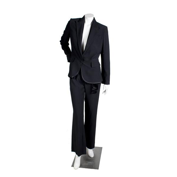 Tuxedo Pant Suit with Bow
