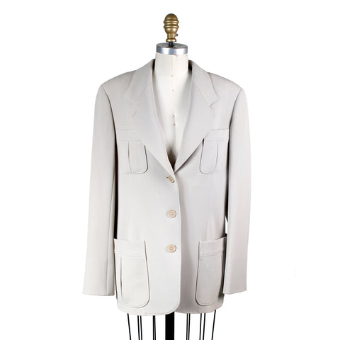 Heavy Blazer Jacket in Beige