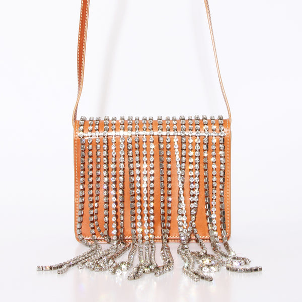 Margiela Crystal Fringe Crossbody Bag