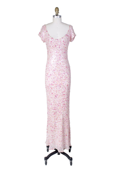 Pink Sequins Gown