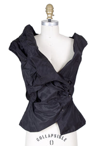 Sculptural and Structured Asymmetrical Vest