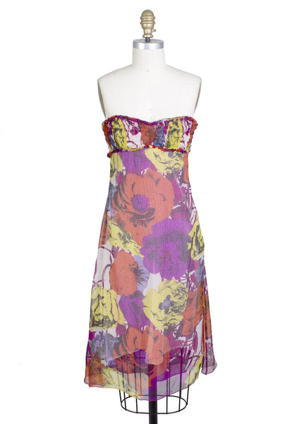 Pop Art Flower Print Dress, Spring 2002