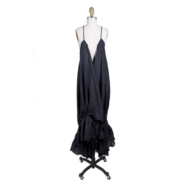 Voluminous Wrap Slip Dress