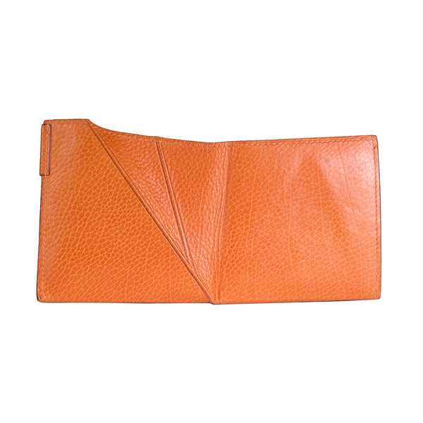Origami Folding Wallet in Orange Leather