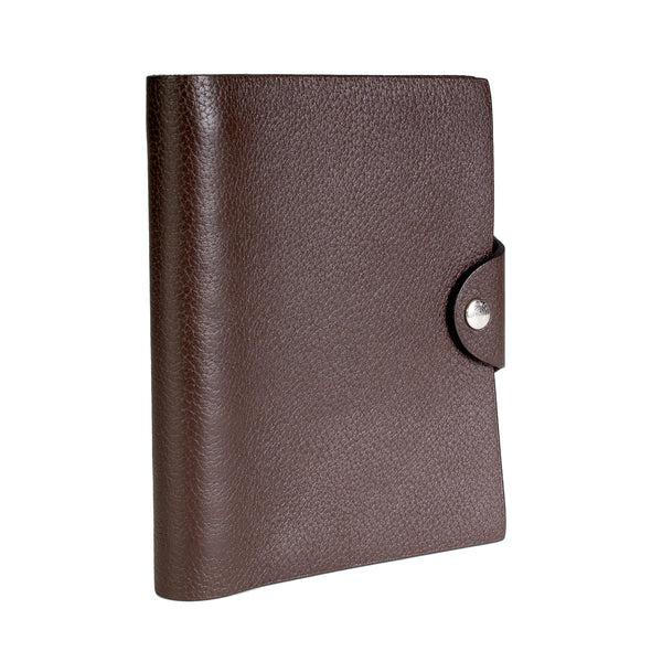 Chocolate Brown Togo Leather Notebook