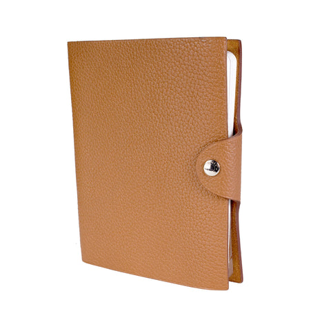 Dark Tan Togo Leather Notebook Cover