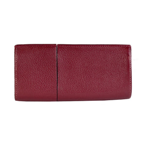 Burgundy Leather Glasses Case