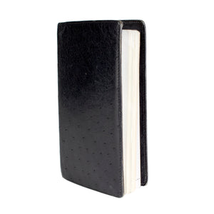 Black Ostrich Notebook