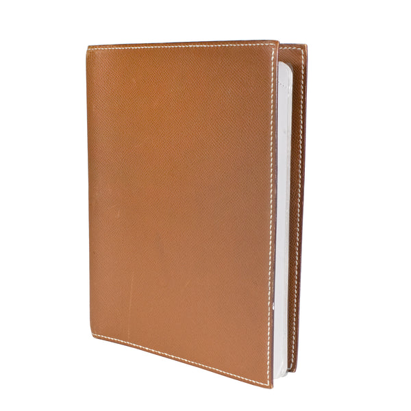Tan Epsom Leather Notebook