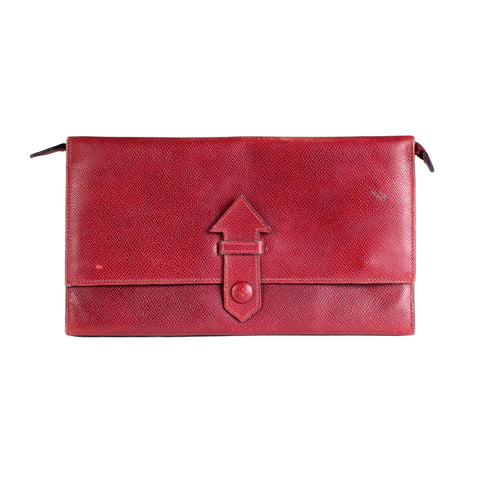 Ox Blood Epsom Leather Travel Wallet