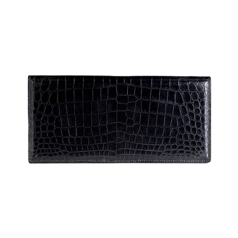 Black Croc Bi-Fold Case Holder