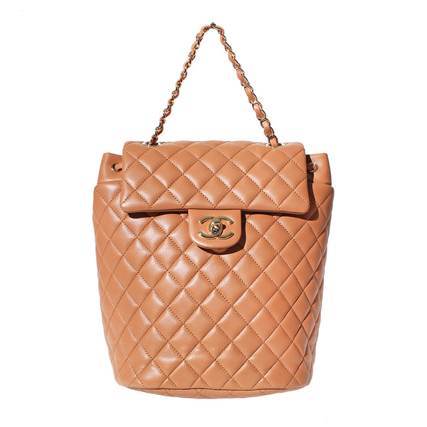Chanel Tan Quilted Leather Backpack, 2016