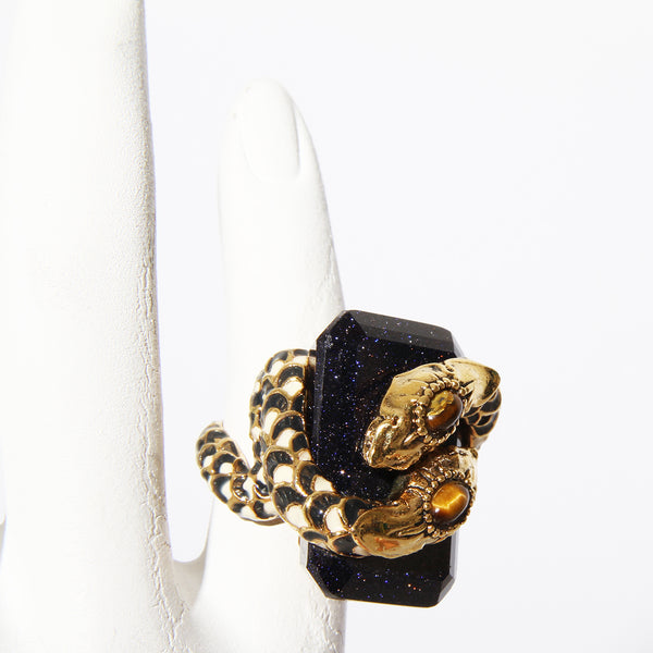 Dual Snake Cavalli Cocktail Ring