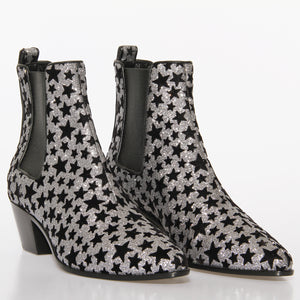 Saint Laurent Glitter Star Booties
