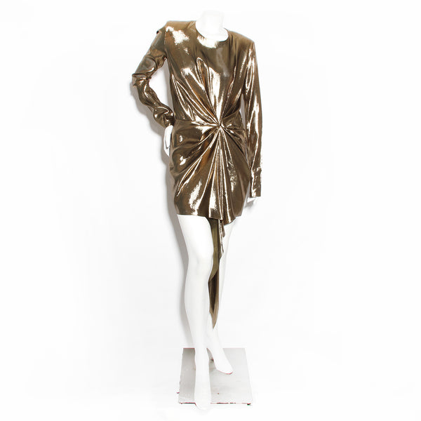YSL Gold Metallic Dress