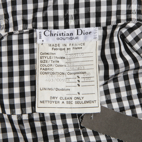 Dior Checkered Peplum top