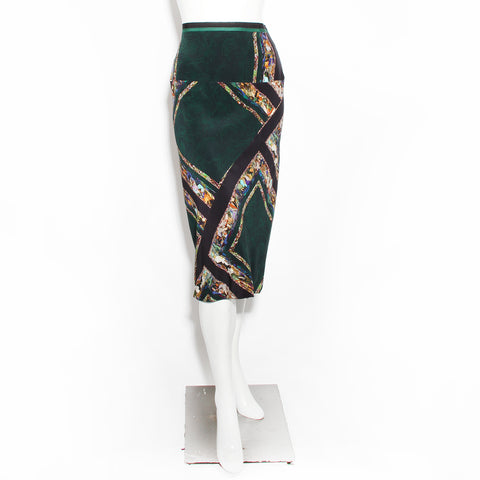 Dries Geometric Abstract Skirt