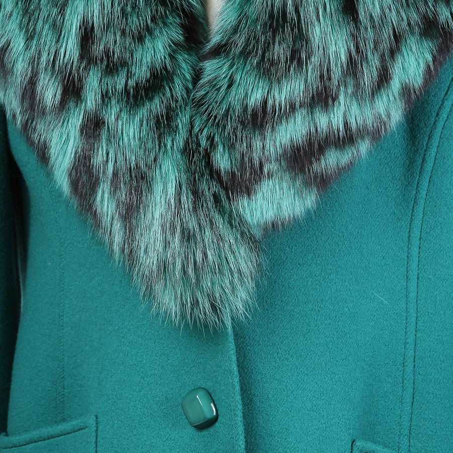 Couture Mink Collar Coat
