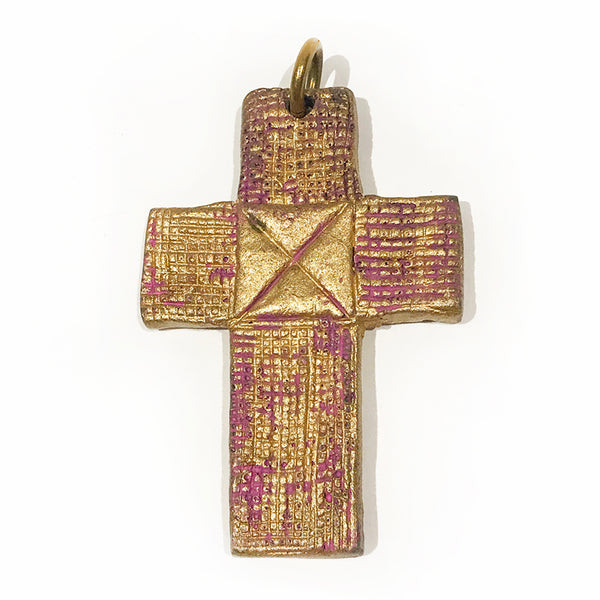 Billy Boy Pink and Gold Cross Pendent