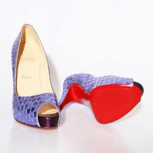 Purple Louboutin Poseidon Pumps