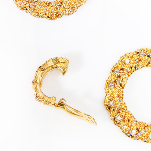 Chanel Gold Hoop Earring