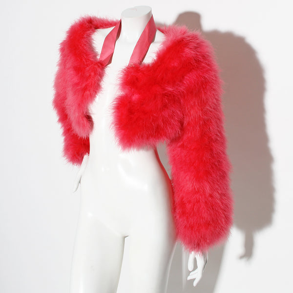 Gucci Marabou Cropped Jacket