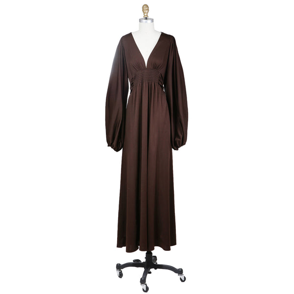 Jersey Peasant Gown circa 1970s
