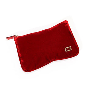 Fendi Velvet Mini Pouch Clutch