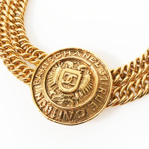 Chanel Eagle Coin Necklace