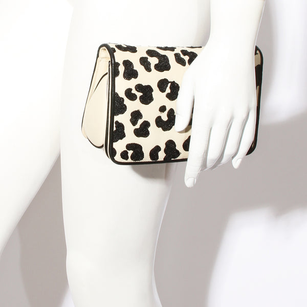 Leiber Leopard Mini Flap Bag