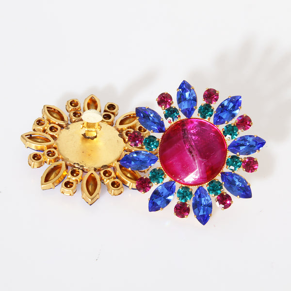 Attributed YSL Multi Gem Earrings