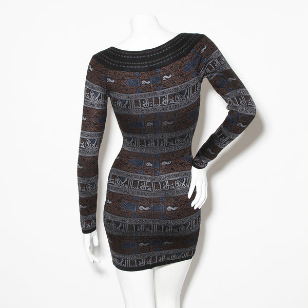 Alaia Kufic Script Mini Dress