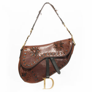 Dior Laser Cut Saddle Bag