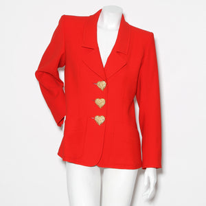 Vintage YSL Heart Button Jacket