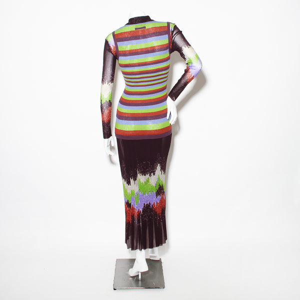 JPG Multicolor Knit Sweater Dress