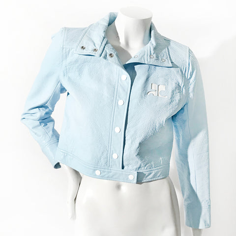 Courreges Vinyl Moto Jacket