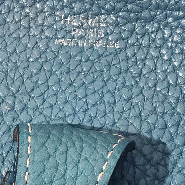Hermes Evelyne Light Blue Handbag
