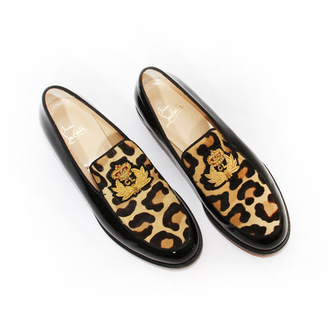 Louboutin Patent and Leopard Loafer