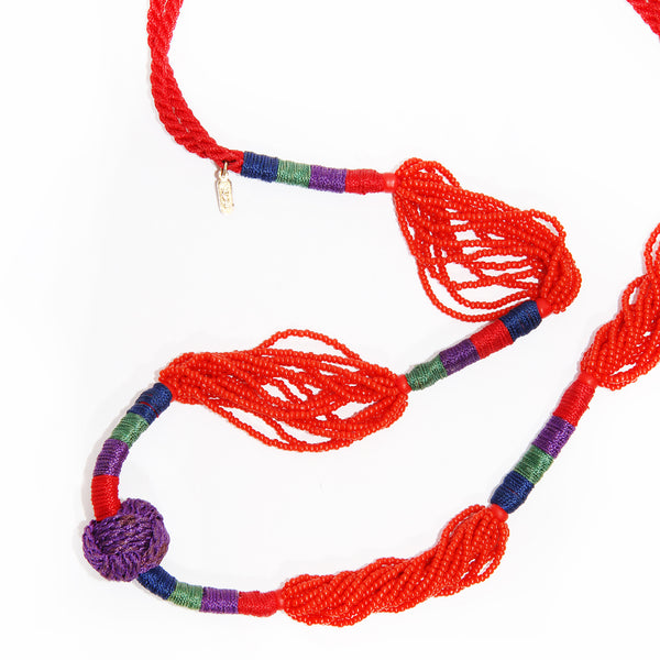 YSL Beaded Rope Necklace