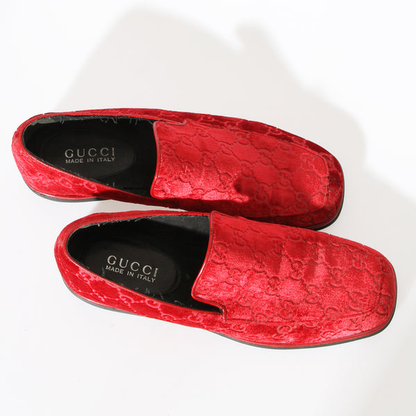 Gucci Velvet Monogram Loafer